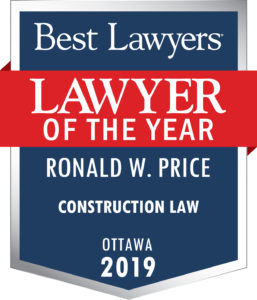 "alt=""2019 Construction Lawyer of the Year - Ronald W. Price"""